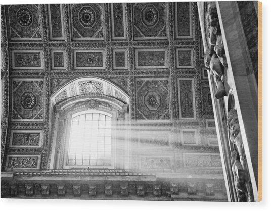 Light Beams In St. Peter's Basillica Wood Print