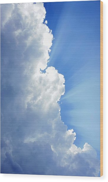 Light Behind The Clouds Wood Print by Thomas Fouch