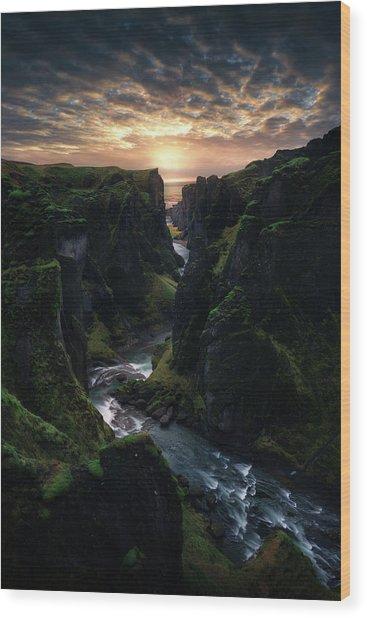 Light Canyon. Wood Print by Juan Pablo De