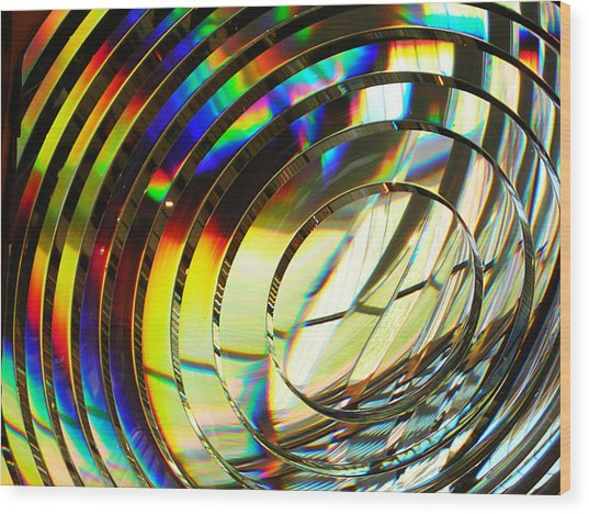 Light Color 1 Prism Rainbow Glass Abstract By Jan Marvin Studios Wood Print