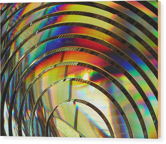 Light Color 2 Prism Rainbow Glass Abstract By Jan Marvin Studios Wood Print