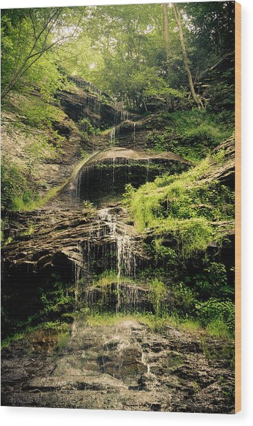 light flow at Cathedral Falls Wood Print