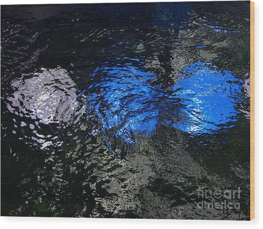 Light From Below Wood Print