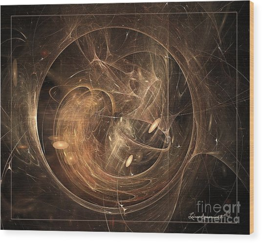 Light In Motion Wood Print by Leona Arsenault