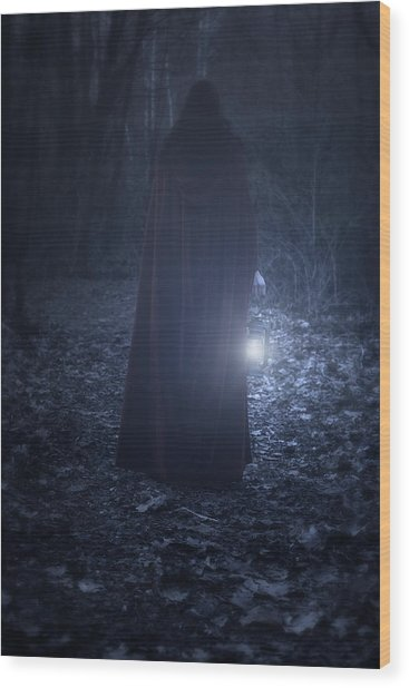 Light In The Dark Wood Print