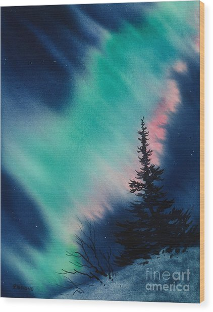 Light In The Dark Of Night Wood Print