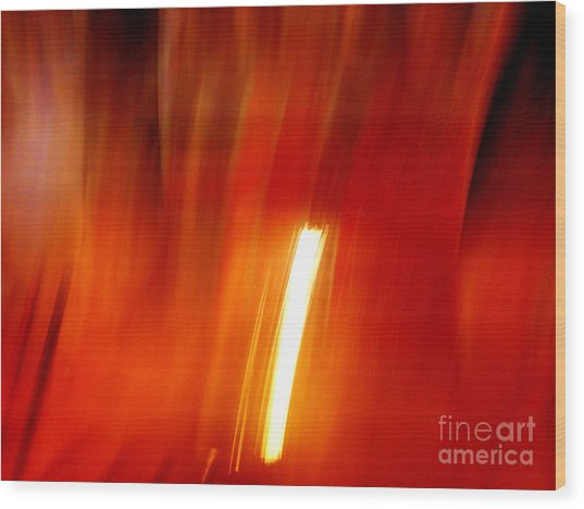 Light Intrusion Wood Print