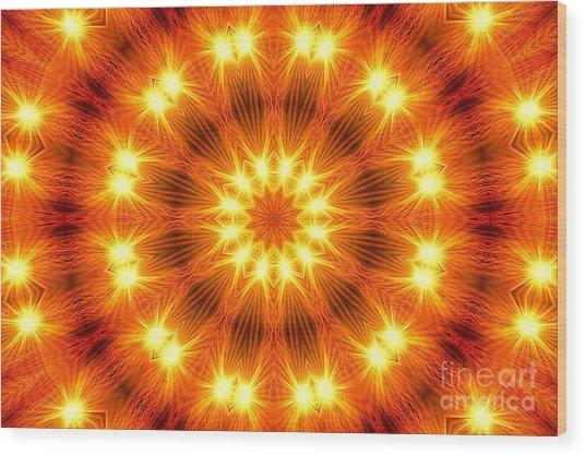 Light Meditation Wood Print