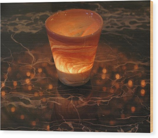 Light Reflection Wood Print