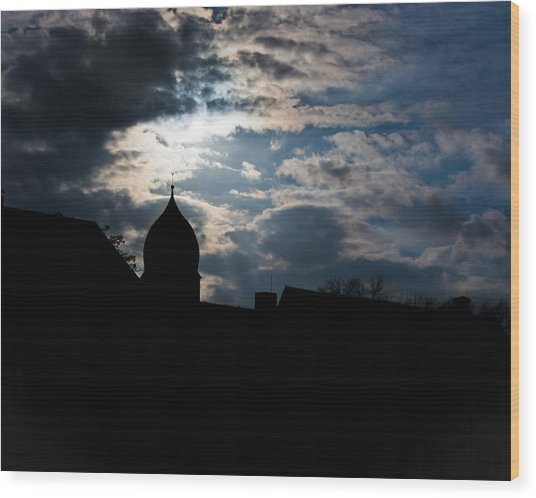 Light Shines In Darkness 2 Wood Print by Marie Sullivan