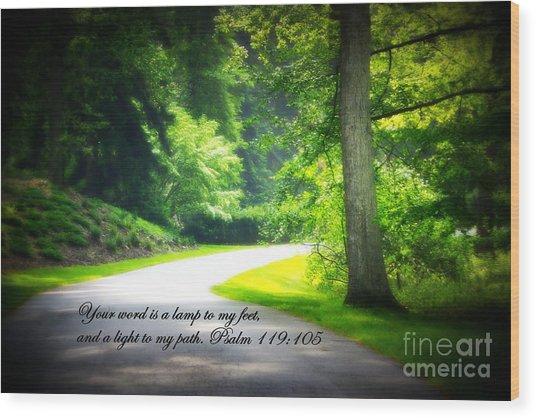 Light To My Path Wood Print