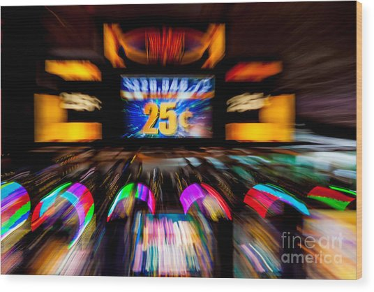 Light Trails Abstract 8 Wood Print