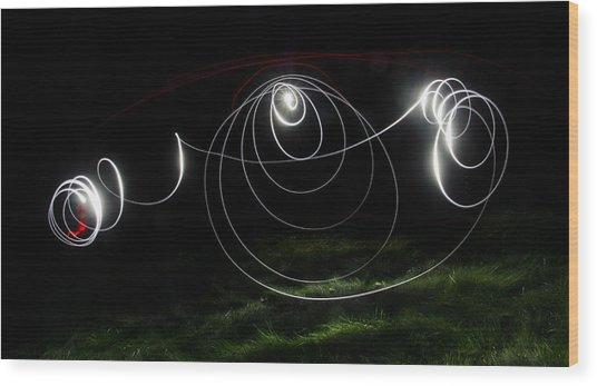 Lightbrush Doodle Wood Print