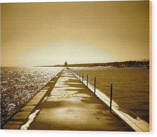Lighthouse 2 Wood Print by Eric Larson