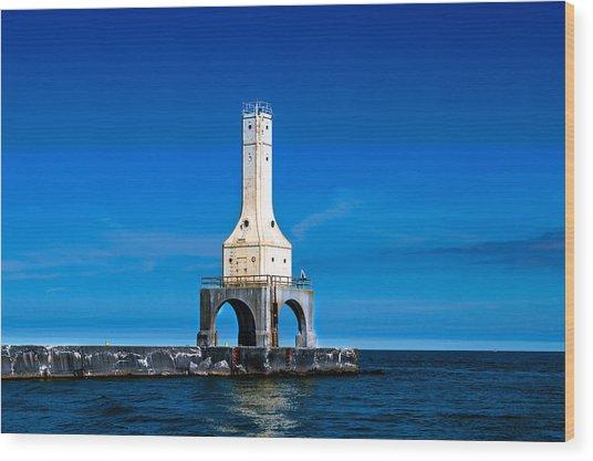 Lighthouse Blues Wood Print
