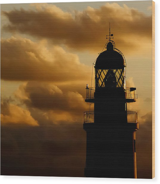 lighthouse dawn in the north coast of Menorca Wood Print
