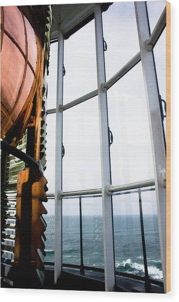 Lighthouse Lens Wood Print