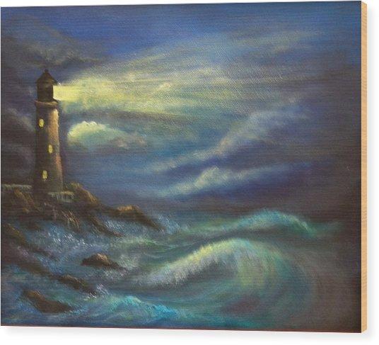 Lighthouse Lights Wood Print