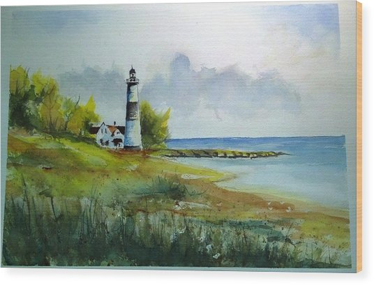 Lighthouse Sold Wood Print
