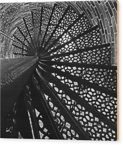 Lighthouse Spiral Wood Print