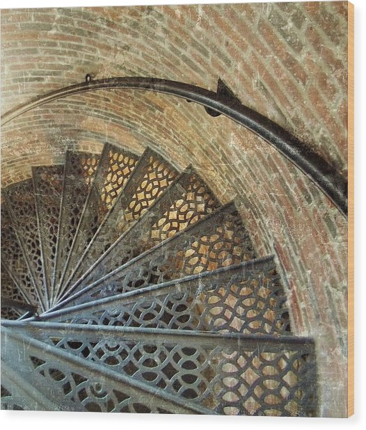 Lighthouse Spiral Staircase Wood Print