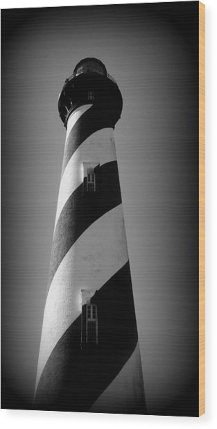 Lighthouse Viiii Wood Print by Rebecca West