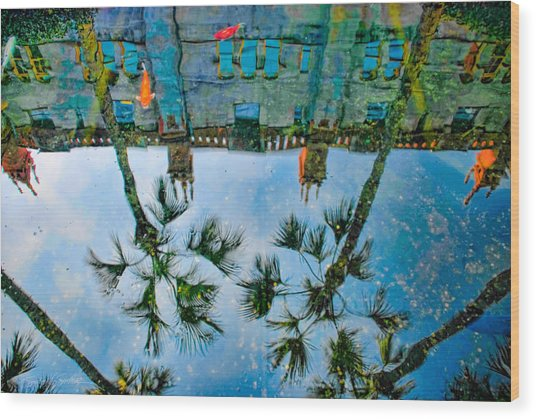 Lightner Museum Koi Pond Reflection Wood Print