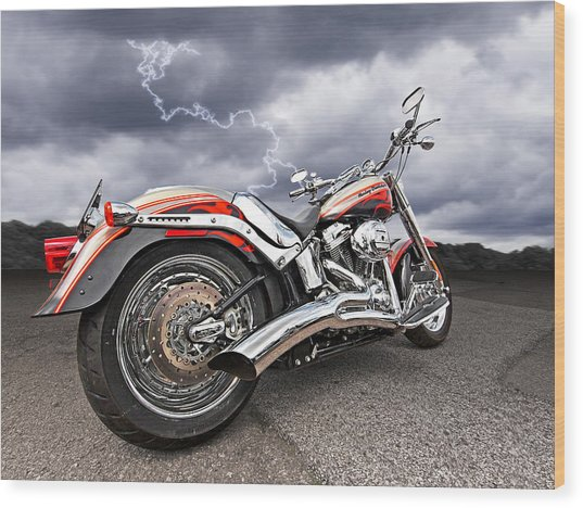 Lightning Fast - Screamin' Eagle Harley Wood Print