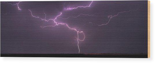 Lightning Wood Print