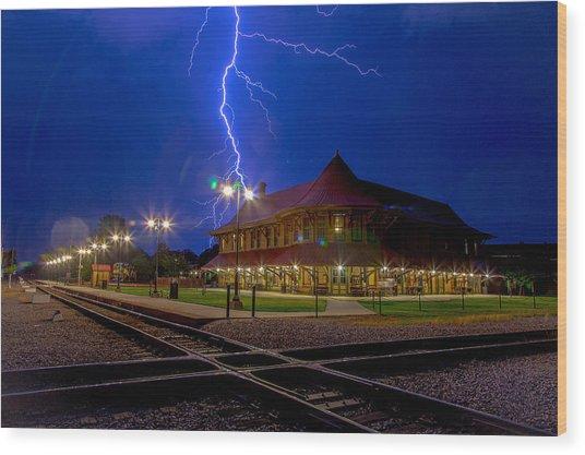 Lightning Show Wood Print