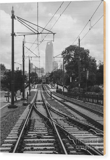 Lightrail To Uptown IIi Wood Print