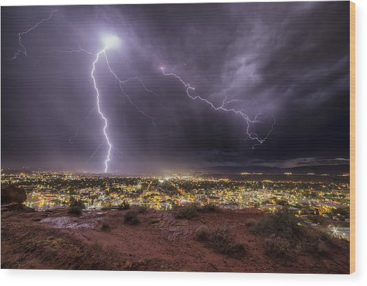 Lights Out Wood Print By Jim Speth