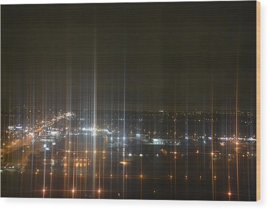 Light's Sound Waves Wood Print by Naomi Berhane
