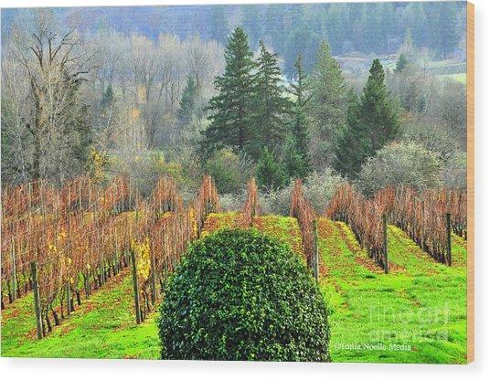 Li'l Vineyard Wood Print