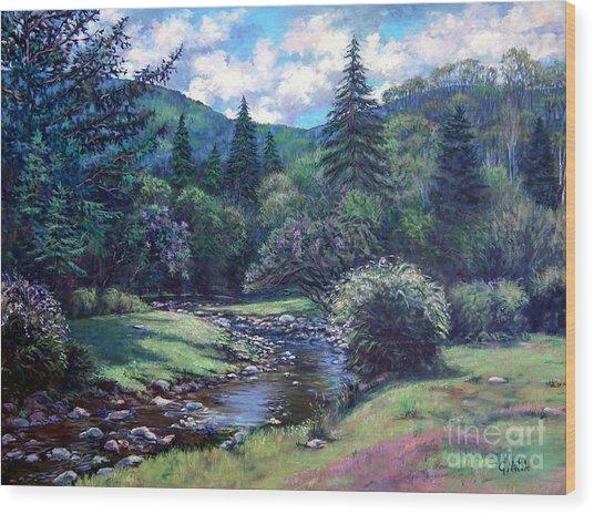 Lilac Brook Wood Print by Gerard Natale