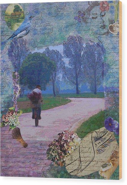 Lilac Man Wood Print