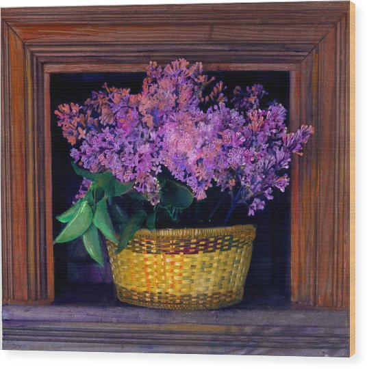 Lilacs Framed Wood Print