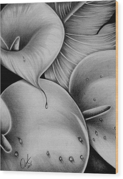 Lilies 3 Wood Print