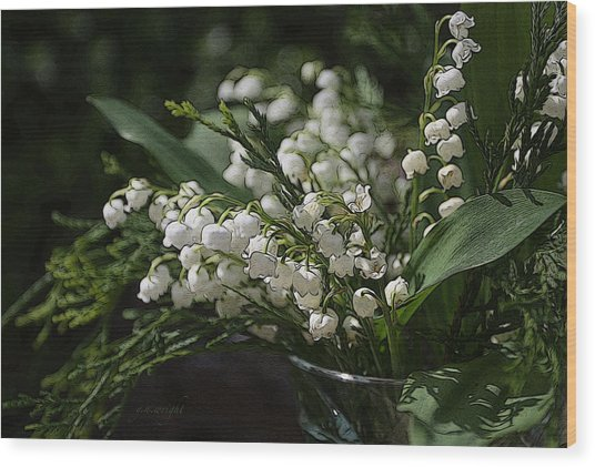 Lilies Of The Valley Wood Print