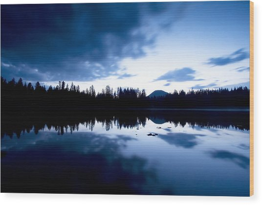 Lilly Lake Wood Print