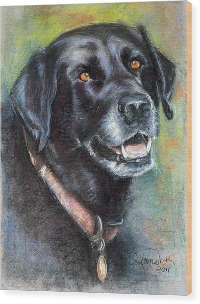 Lily- Black Labrador Retriever Wood Print