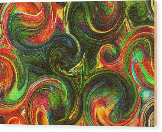 Lily De Labyrinth Wood Print by James Hammen