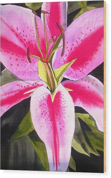 Lily Tenerife Wood Print by Sacha Grossel