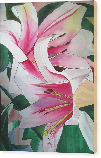 Lily Triumphator Wood Print by Sacha Grossel