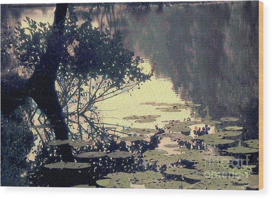 Lilypads Wood Print