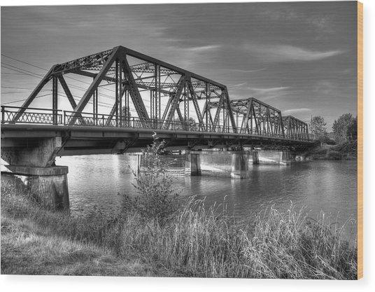 Lincoln Ave. Bridge Wood Print