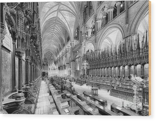 Lincoln Cathedral The Choir I Wood Print