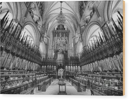Lincoln Cathedral The Choir II Wood Print