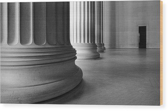 Lincoln Columns Wood Print