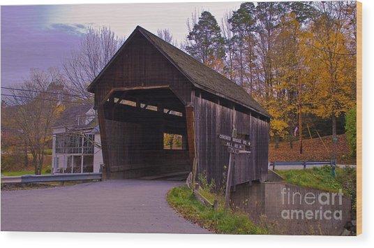 Lincoln Gap Covered Bridge.  Wood Print